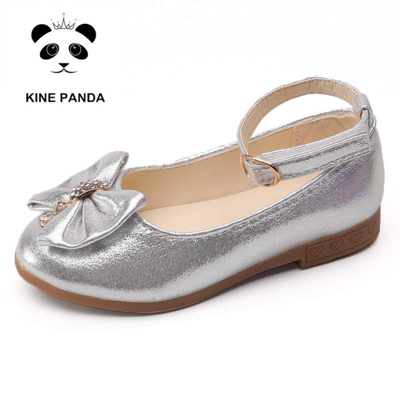KINE PANDA Elegant Children Dress Shoes Girls Princess Leather Wedding Dance Kids Shoes Toddler Girl 1 3 5 7 9 11 Years Old