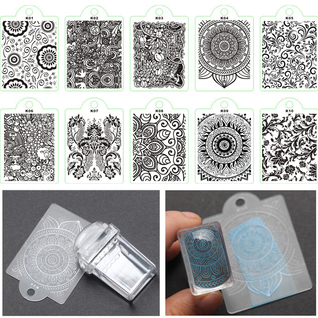 Aliexpress Buy 2pcsset Soft Silicone Head Transparent Stamp
