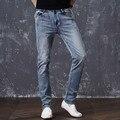 Odinokov Marca Mens Moda Jeans Stretch Cinza Azul Denim Dos Homens Slim Fit Calças Jeans Calças Tamanho 30 32 34 35 36 38 40 42 Jean