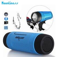 Moonliness Original S1 Bluetooth Lautsprecher LED-licht Drahtlose Tragbare Lautsprecher Im Freien Wasserdichte Fackel Energienbank FM