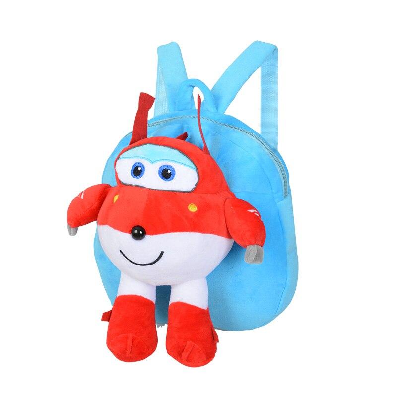HziriP New Kids Plush Backpack Children Cartoon Anime Super Wings Robot Plush Backpacks Birthday Gift Toys For Children 2 Color in Plush Backpacks from Toys Hobbies