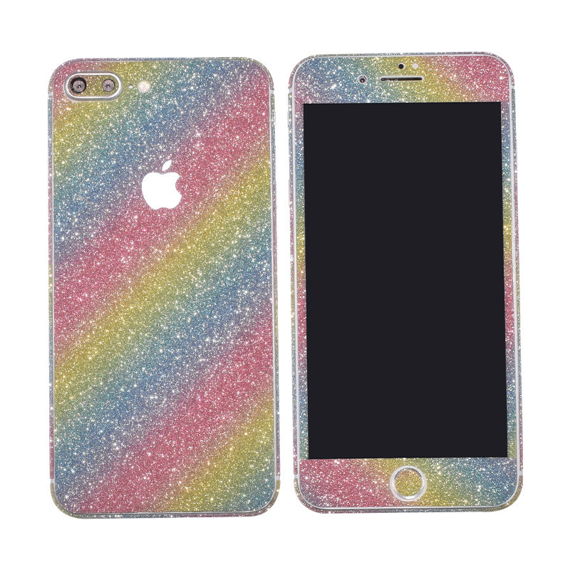 0.3mm Full Body Glitter Bling Sticker Protector Case Cover Skin for iphone 8  plus 7 7plus X-in Fitted Cases from Cellphones   Telecommunications on ... 345d153d5b8e