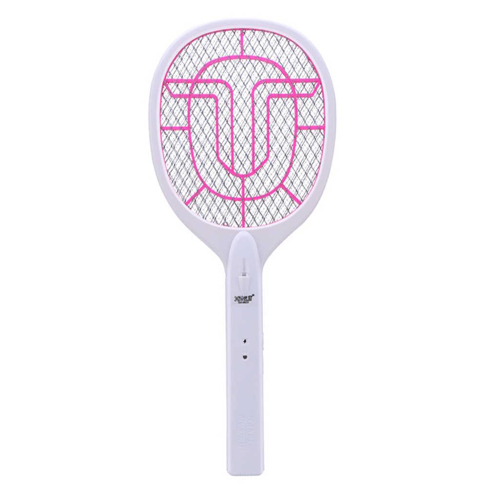 Безопасный убийца комаров ABS Мощный USB аккумуляторная дружественное 3 Слои Чистая электрическая светодиодная Съемная Батарея ручной мухобойка