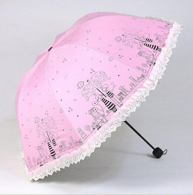 new lovers design women umbrella rain cartoon girl princess