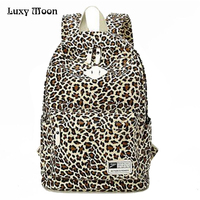 New School Bags For Teenagers Ladies Female Man Women Backpack Leopard Printing Backpack Fashion Shoulder Bag