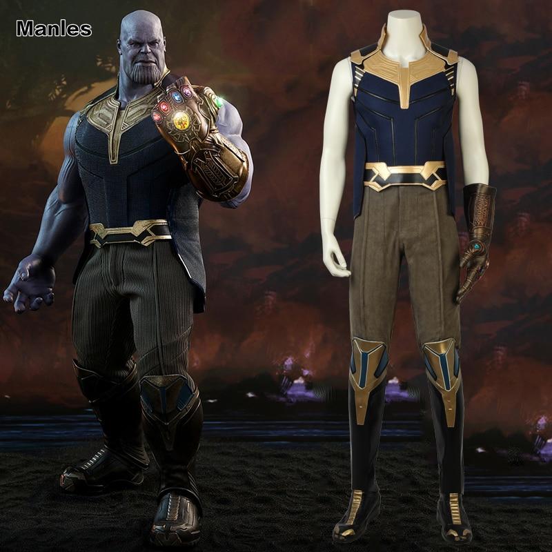 Avengers 3:Infinity War Thanos Cosplay Costume Halloween Carnival Suit Full Set