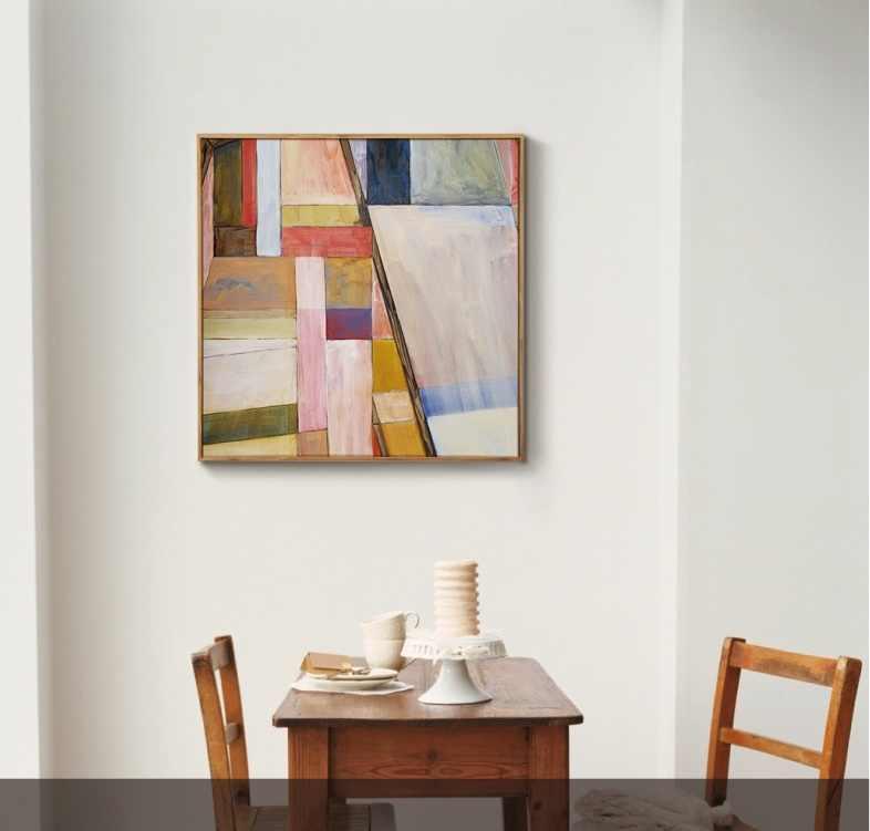 Buatan Tangan Berwarna Abstrak Lukisan Cat Minyak Di Atas Kanvas Seni Kontemporer Yang Dilukis dengan Tangan Besar Dinding Seni Dekorasi Lukisan Dinding Seni Warna