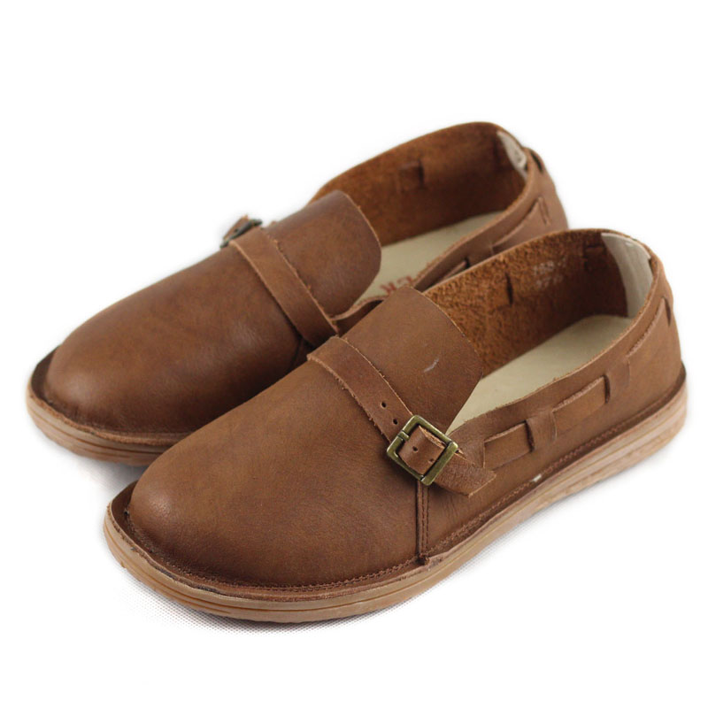 Women Oxford Shoes Genuine Leather Autumn WomenShoes Round toe Slip on Ladies Flat S hoes Casual Footwear Woman Driving shoe