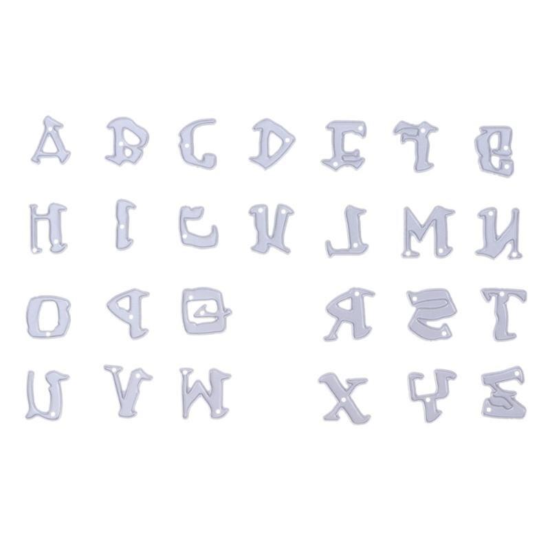 26pcs set alphabet letters metal cutting dies stencils for for Metal stencil set letters