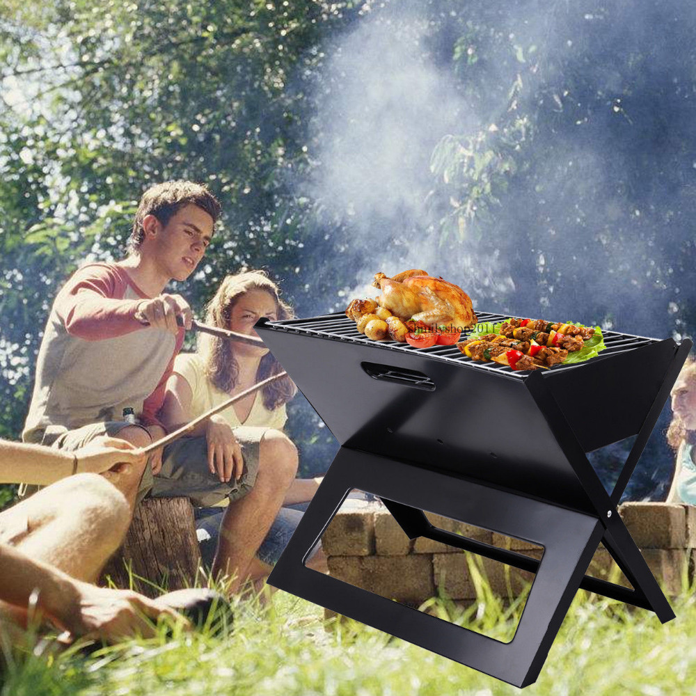 Portable Compact Charcoal Barbecue BBQ Grill for Outdoor Camping Cooker Bars Smoker Folding Oven earth star high quality 50 500 degree roast barbecue bbq smoker grill thermometer temp gauge new arrival 2