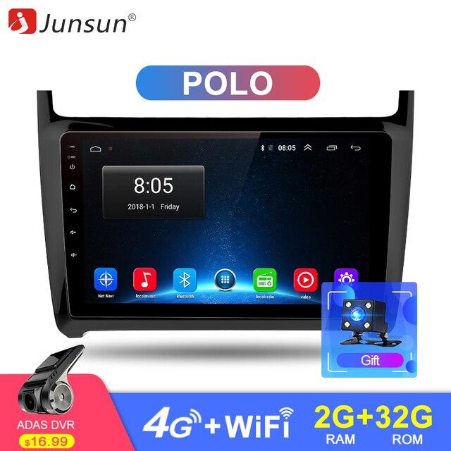 "Junsun 4G LTE 2 Din Android 8,1 г + 32 автомобиля радио мультимедиа видео плеер gps навигации 9 ""для Volkswagen VW мужские поло седан без dvd"