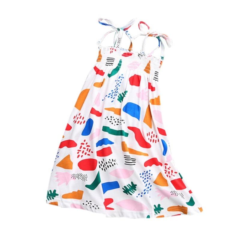 Girl Dress Bobo Choses Toddler Girls Dresses Kids Clothes Graffiti Print Children Dress Princess Kids Summer Dress bobo choses юбка bobo choses модель 281253496