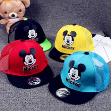 New fashion children's hat cartoon mickey embroidery baby hats Adjustable boys girls cap for kids 2-12 year clothing accessories