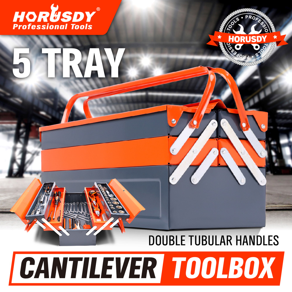 Five Tray Red Lockable Cantilever Tool Box Cantilever Five Tray Tool keter cantilever tool box 22 canti combo