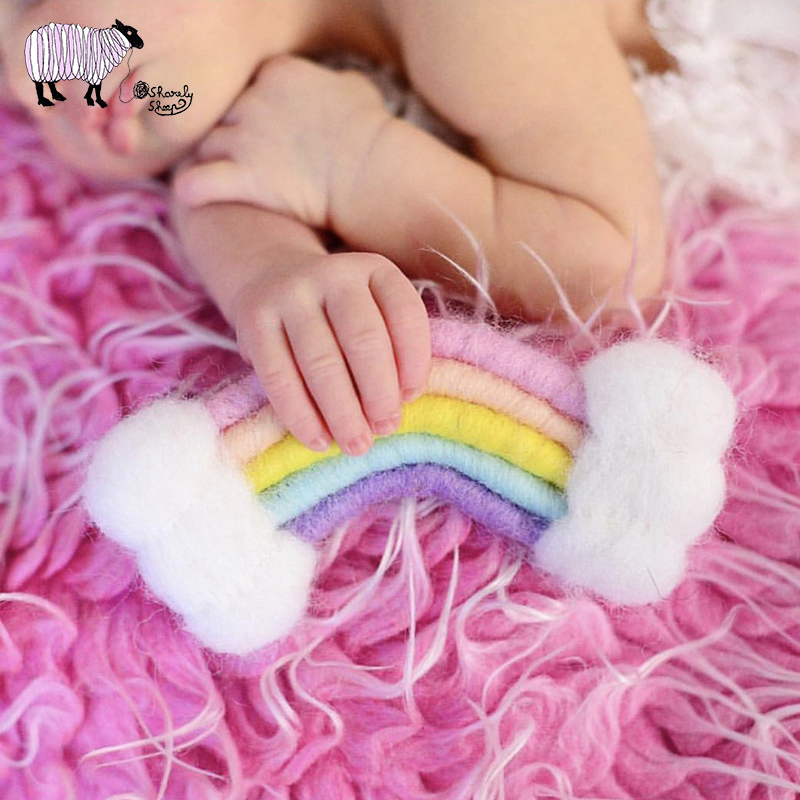 3pcs Photography Props Felt Ball Handmade Multi-functional Baby Heart Shape Woolen Diy Decoration Welding Equipment