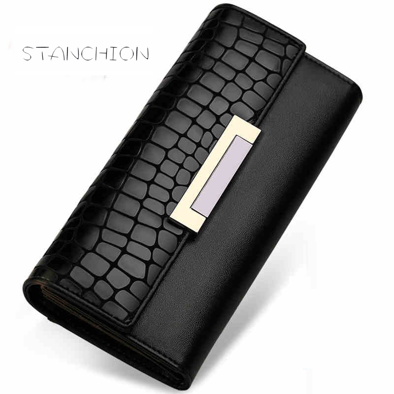 font b Women b font Genuine Leather Vintage Serpentine Pattern Type Style Hasp Long Clutch