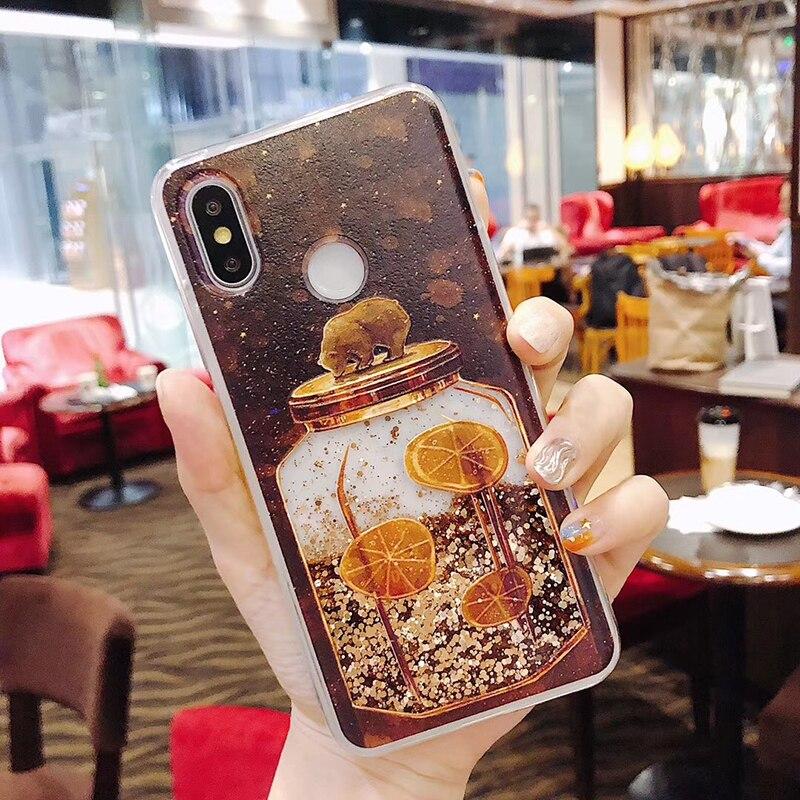 Retro Glitter Clear PC 3D Cartoon Bear Dynamic Liquid Quicksand Phone Case For Huawei P10 P20 Lite Pro Nove 2S Honor 10 V10 Case (5)