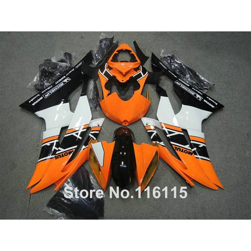 bodywork fairings set for YAMAHA R6 2008 -2014 black orange white full fairing kit YZF R6 08 09 - 14 #2162 Full injection injection molding bodywork fairings set for yamaha r6 2008 2014 blue white black full fairing kit yzf r6 08 09 14 zb77