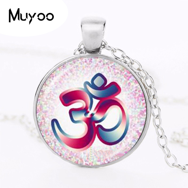Om Aum Ohm Buddha Necklace Namaste Pendant Yoga Jewelry Hinduism