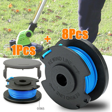 2019 Grass Trimmer String Spools With Spool Cover Plastic+Nylon Line Diameter 0.065 Inch Fit For Ryobi One+AC14RL3A Lawn Mower craftsman automatic feed spool with nylon line replacement 71 85942