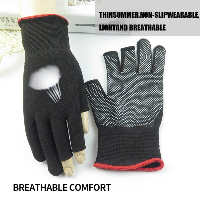 Image 2 - Nylon Fishing Gloves Men's Outdoor Non slip Fishing Protective Gloves Three Finger Cutting SportsCycling Gloves Cycling Gloves-in Fishing Gloves from Sports & Entertainment