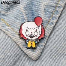 DMLSKY Stephen Kings IT Enamel Pin and Brooch for Clothes bags backpack badges Kids Funny shirt collar brooch M2497