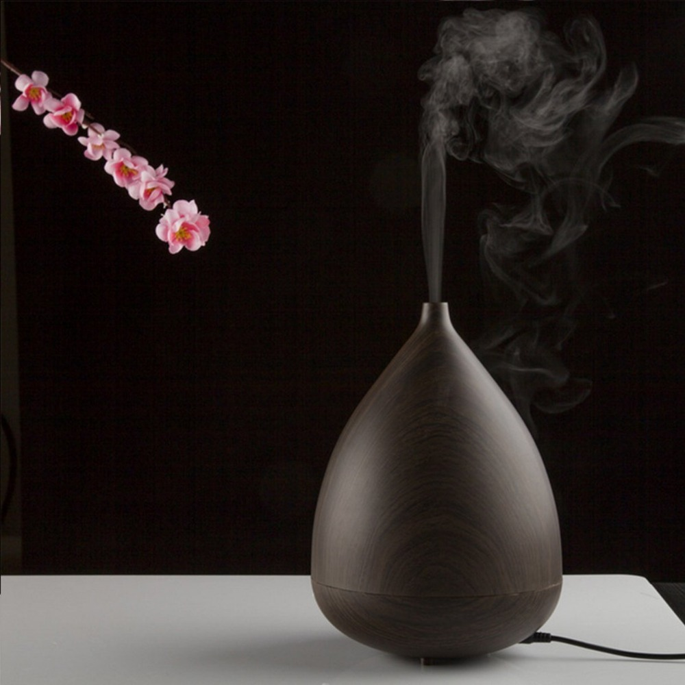 Waterdrop 300ML Wood Essential Oil Diffuser Aromatherapy Humidifier Aroma Mist maker 3 Models 7 Color Light  Timer Setting new 300ml woodgrain essential oil aroma diffuser aromatherapy humidifier mist maker purifier 3 models