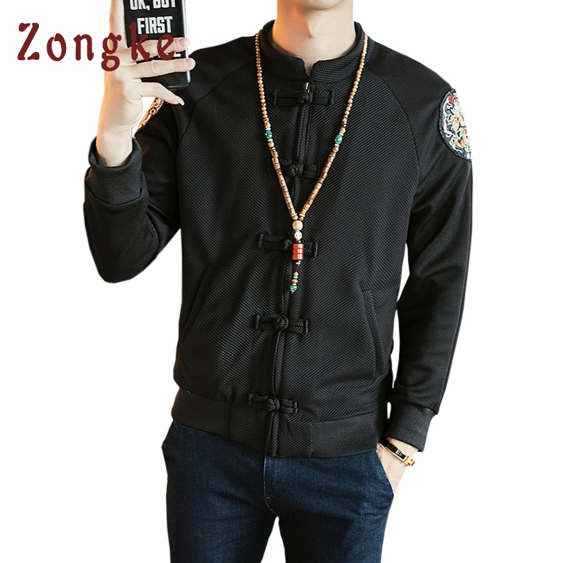 2018 New Chinese Dragon Embroidery Bomber Jacket Coat Men Jaqueta Masculina Casual Jackets Mens Casaco Masculino Veste Homme