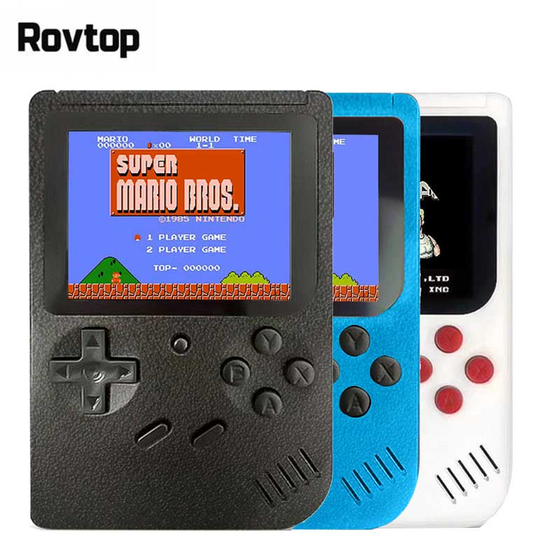 Retro Portable Mini Handheld Game Console 8 Bit 3.0 Inch Color LCD Kids Color Game Player Built in 400 games-in Handheld Game Players from Consumer Electronics