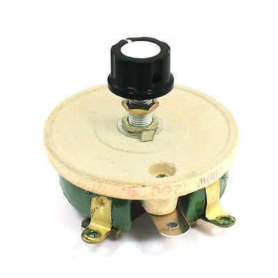 Wirewound Ceramic Potentiometer Variable Rheostat Resistor 100W 200 Ohm variable resistor wire wound rheostat 50w 20 ohm 20ohm