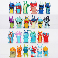 24pcs/set Anime Cartoon 4.5-5cm Mini Slugterra PVC Action Figures Toys Model Dolls Child Toys Christmas Boys Gift