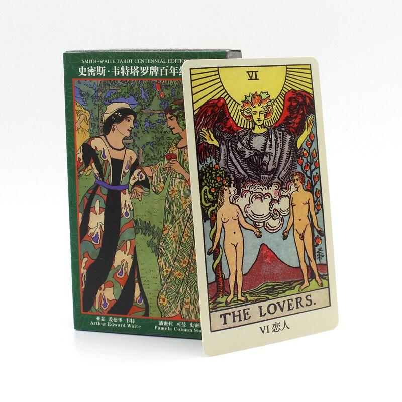 78 tarjetas/set 6 calidad opciones tarot therider/Classic/animal Totem/Rider Waite tarot siglo edición
