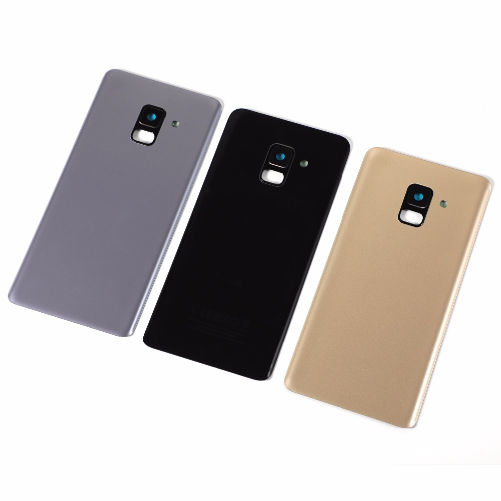 For Samsung Galaxy A8 2018 A530 SM-A530F A530F A530DS Housing Battery Glass Back Cover Camera Lens Cover+Sticker