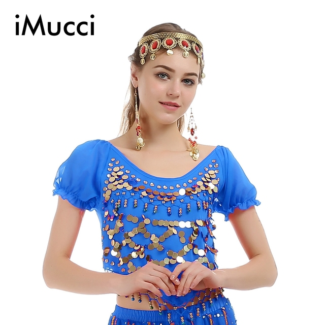 969ab4976a96 iMucci 5 Colors Little Pepper Short Sleeve Child Girl Belly Dance ...