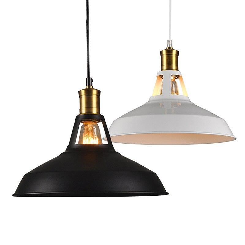 Vintage Pendant Lights black Metal lampshade Pendant Hanging Lamp Kitchen Bar Ceiling Fixtures luminarias Home Lighting