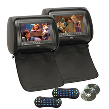 Car Headrest DVD Player Black pillow dvd player Universal Digital Screen zipper Car Monitor USB FM