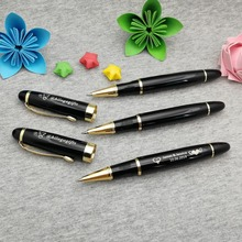 Personalized company event giveaways fat heavy writing pens wtih gold clip custom with your logo/email/phone/address