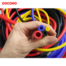 NEW Universal 5 Meter 3mm/4mm/6mm/8mm Silicone Vacuum Tube Hose Silicon Tubing Blue Red Yellow Car Accessories(China)