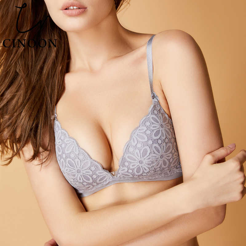 41392b4ed29 Detail Feedback Questions about CINOON Sexy lace bra set cotton brassiere  Triangle cup lingerie Comfortable underwear solid color push up bralette  for women ...