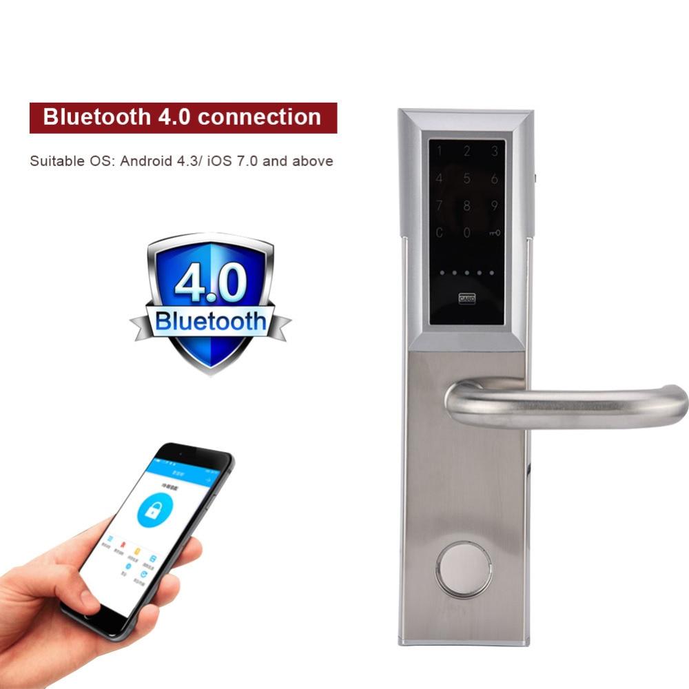 Electronic Bluetooth Smart Door Lock Smartcode Digital Door Lock Keyless Touch Password For Home Hotel Apartment apartment electric door lock keyless passcode lock with mini size