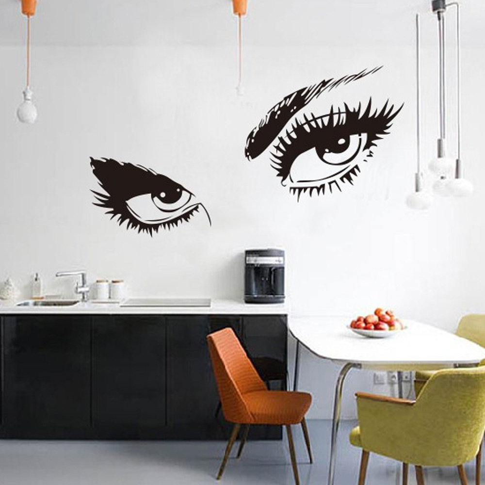 Eyes wall stickers wow modern beauty salon valentine wall decoration - Hot Sexy Eyes Wall Sticker Decals Diy Home Decor Wall Mural Removable Stickers Fg China