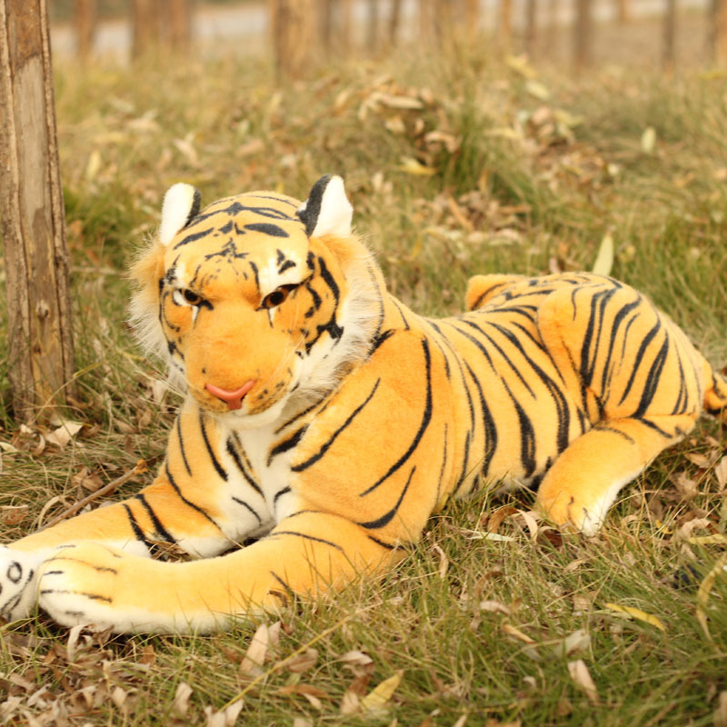 simulation animal large 85cm yellow tiger plush toy surprised gift b4977 stuffed animal 110cm plush tiger toy about 43 inch simulation tiger doll great gift free shipping w018