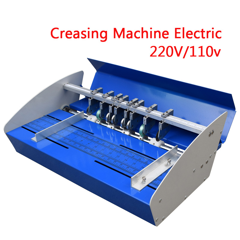 460mm Creasing Machine Electric A3 Paper Creaser Scorer And Perforator Paper Cutter Perforating Machine Paper Folding Machine