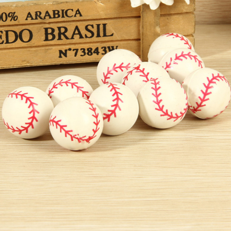 Supply Subcluster 10 Pcs/set Bouncing Ball Rubber Elastic Jumping Baseball Ball Kids Outdoor Toys