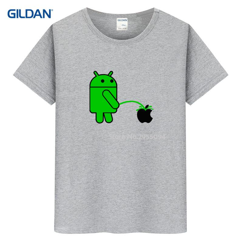 Android Robot Apple Logo Ringer 2017 T Shirt Quotes Homme Cool T Shirt  Design Cotton Getee Shirt Made Camisa In T Shirts From Menu0027s Clothing On ...