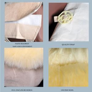 Image 4 - Winter 100% Natural Long Wool Car Seat Cover Mat Warm Australian Sheepskin Fur Auto Seat Cushion Plush Universal Size  1 piece