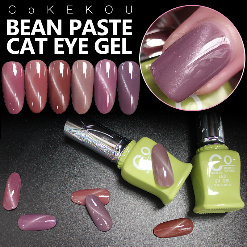 3D Magnetic Pink Cat Eye Gel CoKEKOU New Product Fashion UV & LED Soak off Bean paste Cat Eye Nail Gel Polish elite99 3d magnetic cat eye gel polish soak off nail art