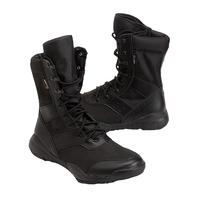 Summer Breathable Mesh Light Weight Desert Tactical Training Army Boots Men Outdoor Sports Camping Hunting High Tube Thin Shoes