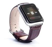 Urvoi جديد وصول جلد طبيعي باند لآبل ووتش سلسلة 1 2 3 لالأشرطة iwatch المعصم حزام حزام مع محولات اتصال