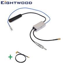 Eightwood преобразования DAB автомобиля радио антенна/AM DAB/FM/AM антенна-преобразователь/сплиттер и SMA к SMB антенна кабель адаптера